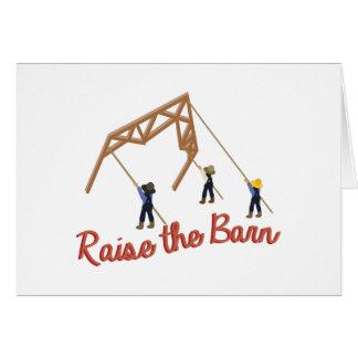 Raise the Barn Card