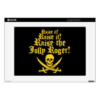 "Raise The Jolly Roger Decals For 15"" Laptops"