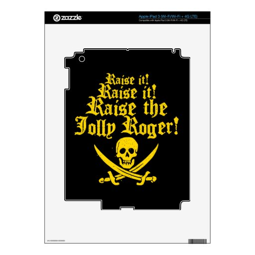Raise The Jolly Roger iPad 3 Decals