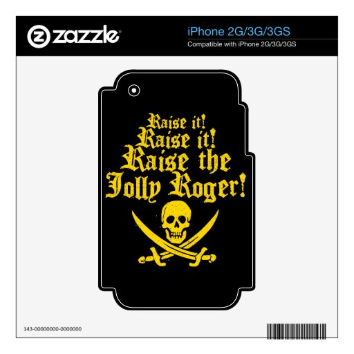 Raise The Jolly Roger iPhone 2G Skins