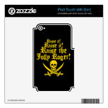 Raise The Jolly Roger iPod Touch 4G Decal
