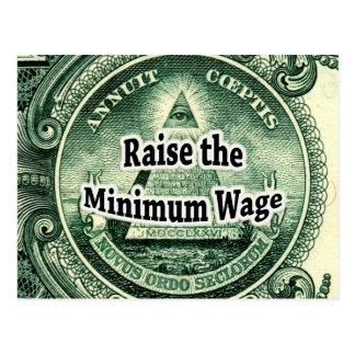 Raise the Minimum Wage Postcard