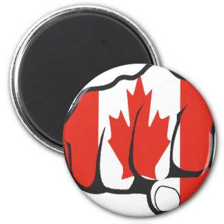Raise Yer Fist CANADA 2 Inch Round Magnet