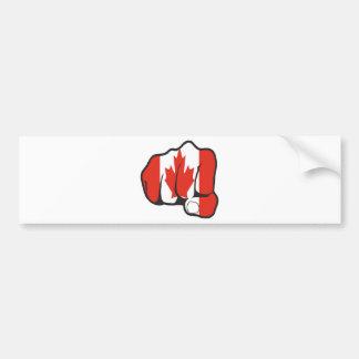 Raise Yer Fist CANADA Bumper Stickers