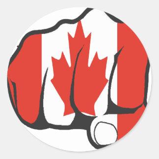 Raise Yer Fist CANADA Round Stickers