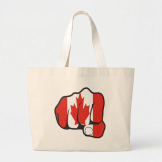 Raise Yer Fist CANADA Tote Bags