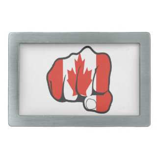 Raise Your Fist and Hell Rectangular Belt Buckle