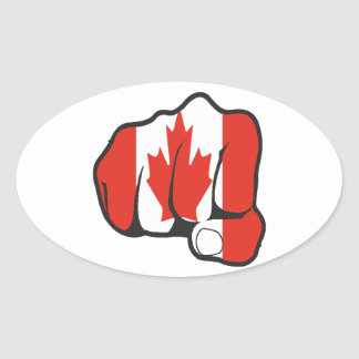 Raise Your Fist and Hell Oval Sticker