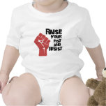 Raise your fist and resist baby bodysuit