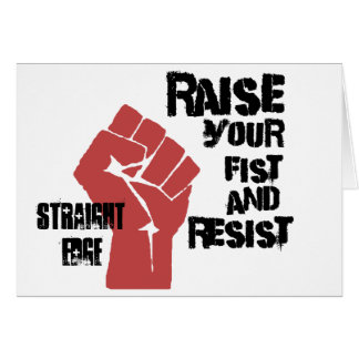 Raise your fist and resist card