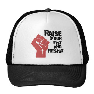 Raise your fist and resist trucker hat