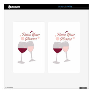 Raise Your Glasses Kindle Fire Decals