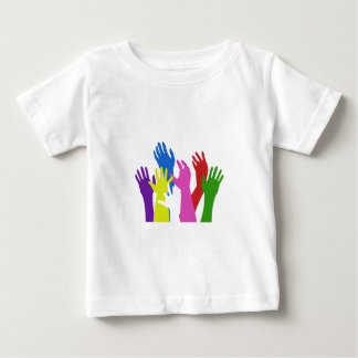 raise your hands to support south africa and socce tee shirt