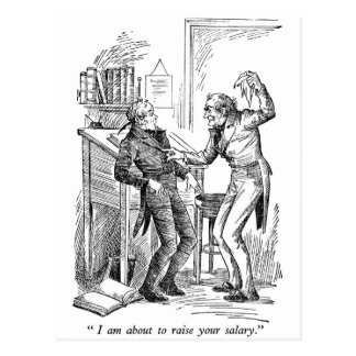 Raise Your Salary (with text) Postcard