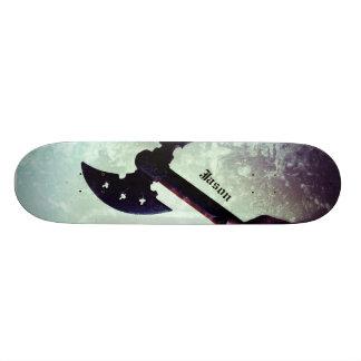 Raised battle axe skateboard