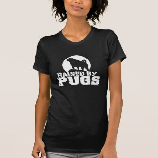 RAISED BY PUGS Dark Womens and Girls Petite Shirt