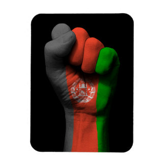 Raised Clenched Fist with Afghan Flag Rectangular Photo Magnet