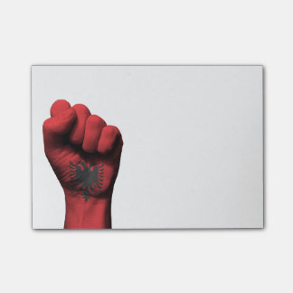Raised Clenched Fist with Albanian Flag Post-it® Notes