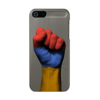 Raised Clenched Fist with Armenian Flag Metallic Phone Case For iPhone SE/5/5s