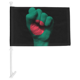 Raised Clenched Fist with Bangladesh Flag
