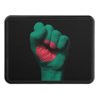 Raised Clenched Fist with Bangladesh Flag Hitch Cover