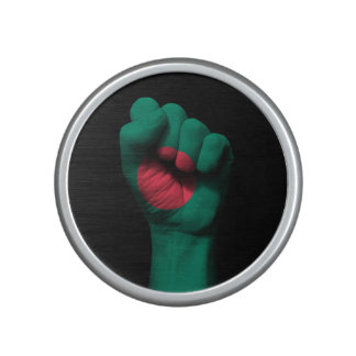 Raised Clenched Fist with Bangladesh Flag Speaker