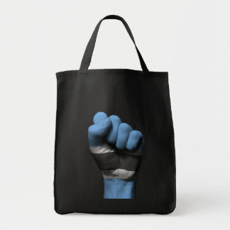 Raised Clenched Fist with Botswana Flag Tote Bag