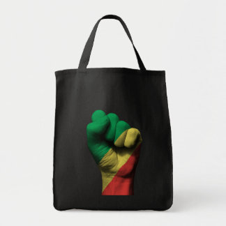 Raised Clenched Fist with Congo Flag Tote Bag