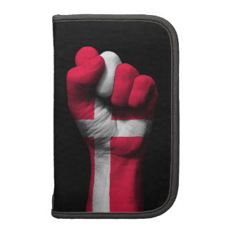 Raised Clenched Fist with Danish Flag Organizer