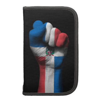 Raised Clenched Fist with Dominican Flag Folio Planners
