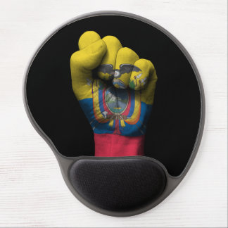 Raised Clenched Fist with Ecuadorian Flag Gel Mouse Pad