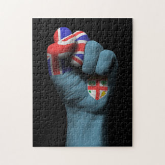 Raised Clenched Fist with Fiji Flag Puzzle