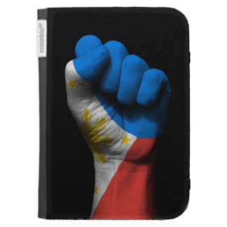Raised Clenched Fist with Filipino Flag Kindle Cases