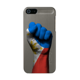 Raised Clenched Fist with Filipino Flag Metallic Phone Case For iPhone SE/5/5s
