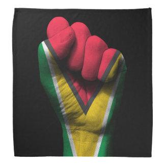 Raised Clenched Fist with Guyanese Flag Bandana