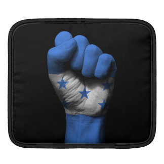 Raised Clenched Fist with Honduran Flag iPad Sleeve