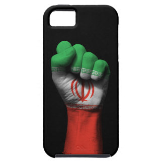 Raised Clenched Fist with Iranian Flag iPhone SE/5/5s Case