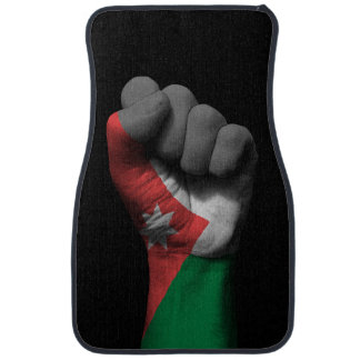 Raised Clenched Fist with Jordanian Flag Car Mat