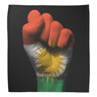 Raised Clenched Fist with Kurdish Flag Bandana