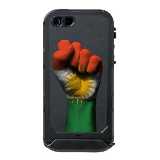 Raised Clenched Fist with Kurdish Flag Waterproof iPhone SE/5/5s Case
