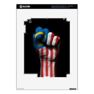 Raised Clenched Fist with Malaysian Flag Decals For iPad 3