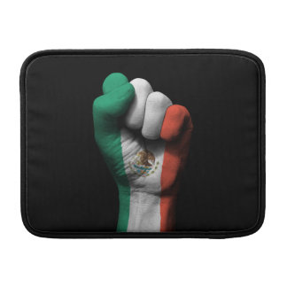 Raised Clenched Fist with Mexican Flag MacBook Sleeve