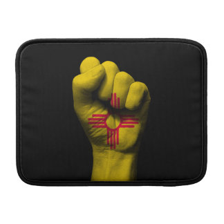Raised Clenched Fist with New Mexico Flag MacBook Sleeve