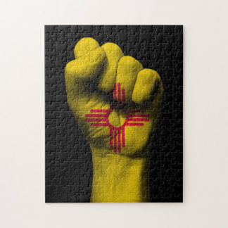 Raised Clenched Fist with New Mexico Flag Puzzles