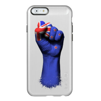 Raised Clenched Fist with New Zealand Flag Incipio Feather® Shine iPhone 6 Case