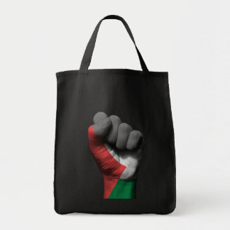 Raised Clenched Fist with Palestinian Flag Tote Bag