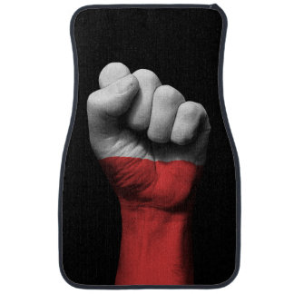 Raised Clenched Fist with Polish Flag Car Floor Mat