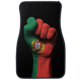 Raised Clenched Fist with Portuguese Flag Car Mat