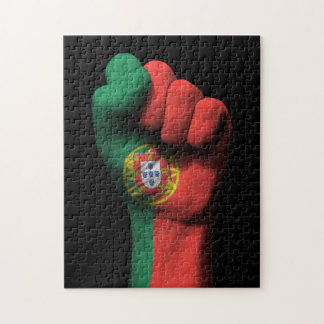 Raised Clenched Fist with Portuguese Flag Puzzle