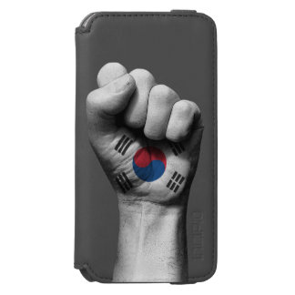 Raised Clenched Fist with South Korean Flag iPhone 6/6s Wallet Case
